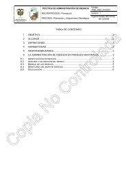 Política de Administración de Riesgos - Parques Nacionales de ...