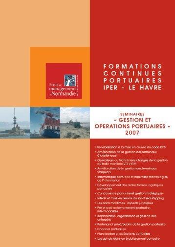 gestion et operations portuaires - EM Normandie