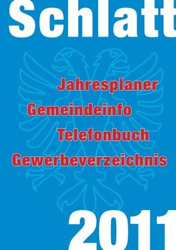 Jahresplaner Gemeindeinfo Telefonbuch Gewerbeverzeichnis