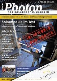 Sonderdruck Solarworld PV Module - Photon ... - Gerenda Solar