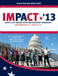 Aapa's 41st annual physician assistant conference - American ...