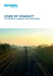 Download the code of conduct for Infrabel's suppliers and contractors