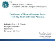 The Genesis of Climate Change Activism: From ... - Climate Access