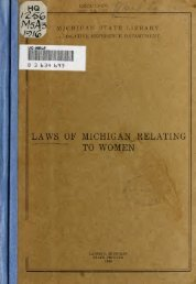 Laws of Michigan relating to women - North Central Michigan ...