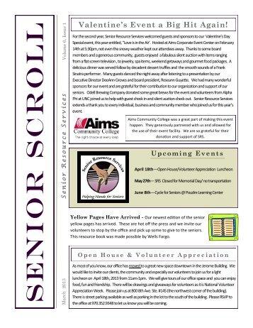 Volume 6-Issue 1-March, 2013 - Senior Resource Services