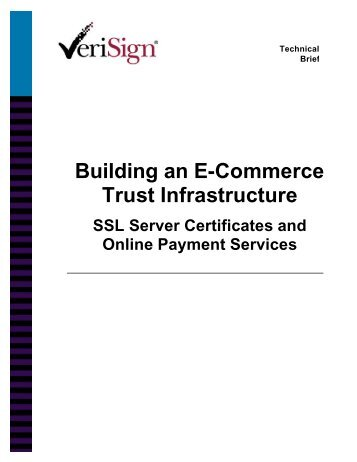 Building an E-Commerce Trust Infrastructure - Capitol College ...