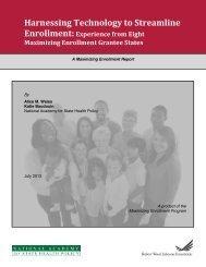 Harnessing Technology to Streamline Enrollment - National ...