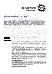 Kulturhauptstadt 2012 4 Tage - Passauer Neue Presse