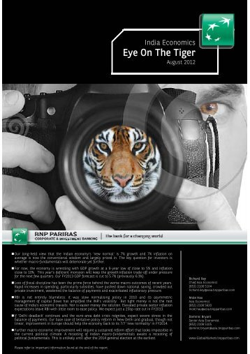 Eye On The Tiger - BNP PARIBAS - Investment Services India