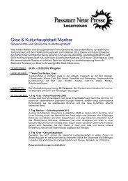 Kulturhauptstadt 2012 3 Tage - Passauer Neue Presse