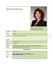 Prof.Dr. Ece ONUR - Celal Bayar Üniversitesi