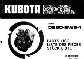 DIESEL ENGINE MDTEUR DIESEL ~ - Hjallerup Maskinforretning A/S