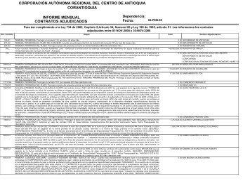 Licitación - Contratos Adjudicados Noviembre 2008 - Inicio