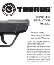 INSTRUCTION MANUAL TCP SERIES - Taurus