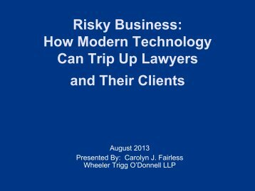 PowerPoint - The Network of Trial Law Firms