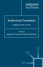 Audiovisual Translation: Language Transfer on ... - ymerleksi - home