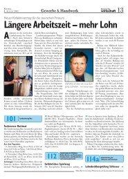 Längere Arbeitszeit – mehr Lohn - Wirtschaftskammer Steiermark