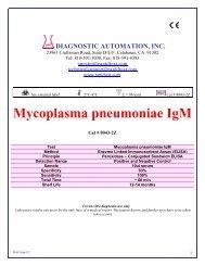 Mycoplasma pneumoniae IgM - ELISA kits - Rapid tests
