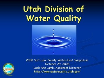 Utah Division of Water Quality - Watershed Planning and ...
