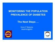 LunchtimeSeminar_Diabetes_Part Two - Institute of Public Health in ...