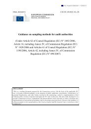 Guidance on sampling methods for audit authorities (Under ... - Interact