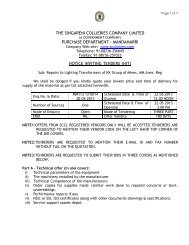 mandamarri notice inviting tenders (nit) - SCCL Home page