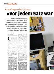 Coop-Zeitung - Deutschschweizer Logopädinnen