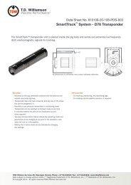 SmartTrack™ System - D76 Transponder - T.D. Williamson, Inc.