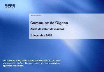 Titre du rapport bandeau horizontal - Ville de Gigean