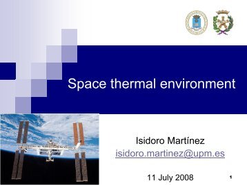 Space thermal environment