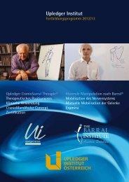 Upledger CranioSacral Therapie - Osteopathie Institut Österreich