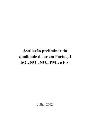 Avaliação preliminar da qualidade do ar em Portugal - Agência ...