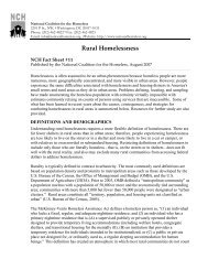 Rural Homelessness - National Coalition for the Homeless