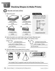 Stacking Shapes to Make Prisms