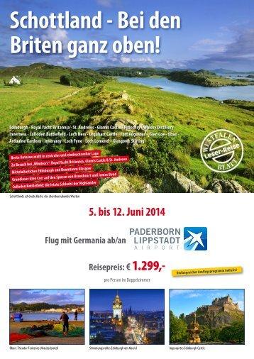 Schottland - Bei den Briten ganz oben! - Westfalen-Urlaubsreisen