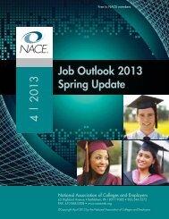 Job Outlook 2013 Spring Update 4   2013 - Career Services