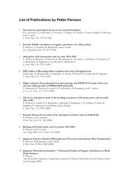 List of Publications by Petter Persson - Department of Theoretical ...