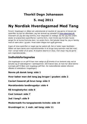 En indholdsfortegnelse - Tang Thorkil