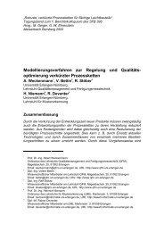 optimierung verkürzter Prozessketten - Lehrstuhl für Mustererkennung