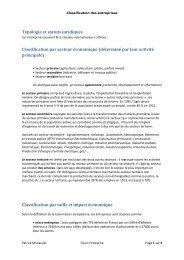 Classification des entreprises - Patrick MONASSIER