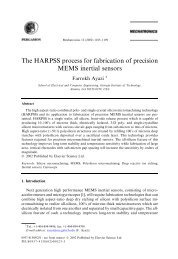 The HARPSS process for fabrication of precision MEMS ... - UMEL