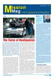 The Curse of Hooliganism - European Union Police Mission in ...