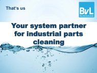 Your system partner for industrial parts cleaning - Edeltec