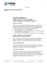 INFORMATIONSBLAD Regler om bygglov för ... - Tjörns kommun