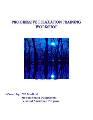 PROGRESSIVE RELAXATION TRAINING - Human Resources at MIT