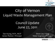 June 27, 2011 Council presentation - Stage 1 ... - City of Vernon
