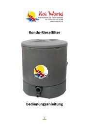Rondo Manual - Koi World GmbH