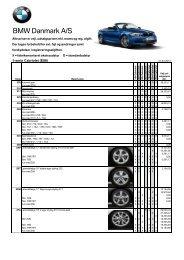 Prisliste BMW 1-serie Cabriolet ekstraudstyr (pdf) - BMW Danmark