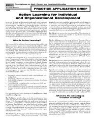 Action Learning for Individual and Organizational ... - CALPRO