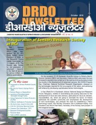 Vol. 30, Issue 10, October 2010 - DRDO